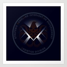 Hidden HYDRA - S.H.I.E.L.D. Logo with Wording Art Print