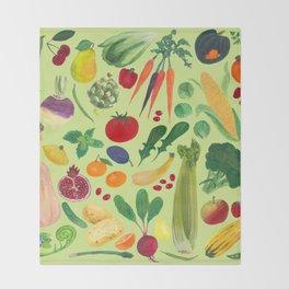 Fruits and Veggies Throw Blanket