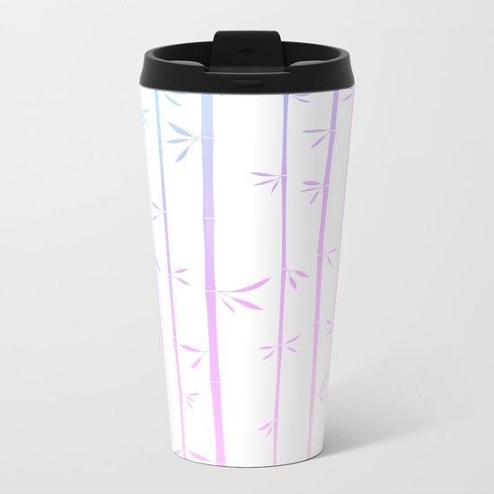 Tropical woody rainbow bamboos Metal Travel Mug