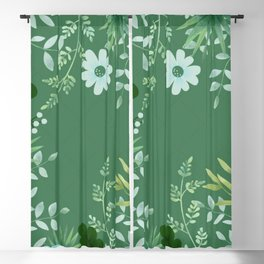 Green Scenery Blackout Curtain