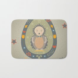 Festive Easter Egg with Cute Character Bath Mat