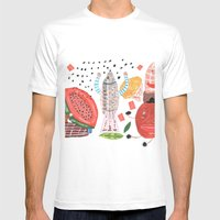 Fruits White MEDIUM Mens Fitted Tee