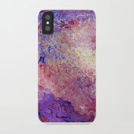Purple and Red Cosmos iPhone Case