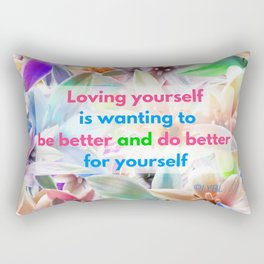 Be Better for yourself Rectangular Pillow