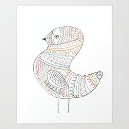 GOLDEN BIRD Art Print