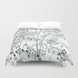 wild carrot watercolor Duvet Cover