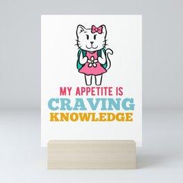 Kittens school cat girl pink pink Mini Art Print