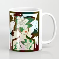 window Mugs featuring WINDOW by Lorenza Bluetiz
