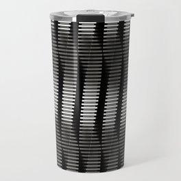 Spinning Columns - Steel - Futuristic Industrial Sci-Fi Pattern Travel Mug