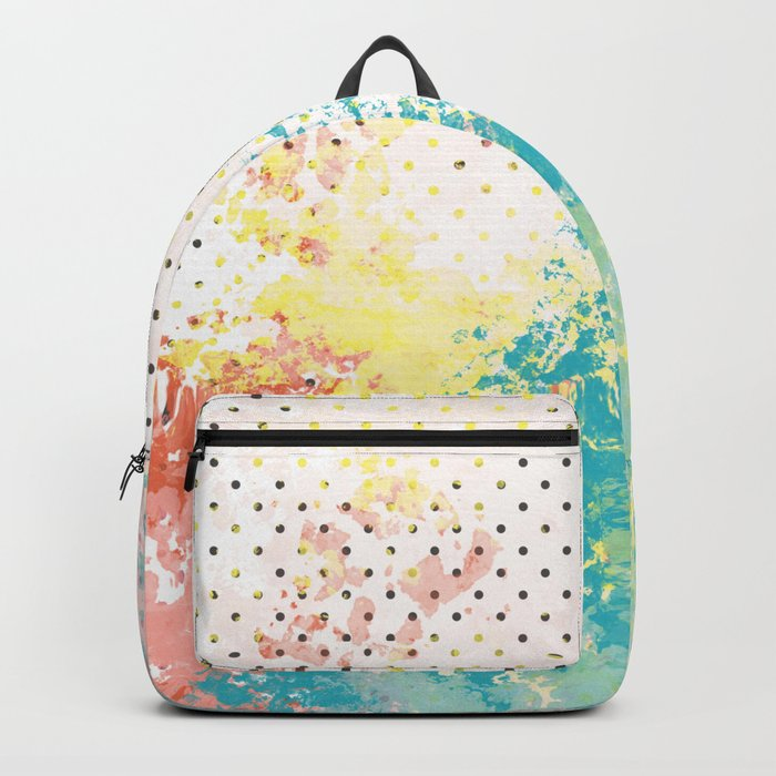 Paint on Polka Dot Abstract Backpack