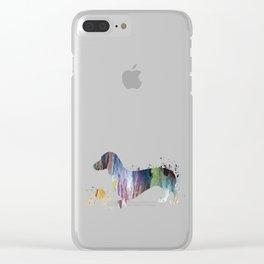 Dachshund art Clear iPhone Case