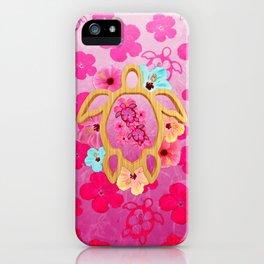 Hawaiian Pink Turtle iPhone Case