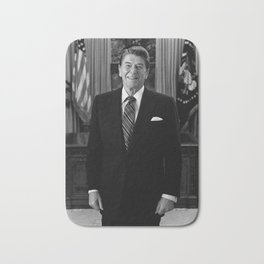 Ronald Reagan In The Oval Office Bath Mat