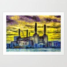Battersea Power Station Van Gogh Art Print