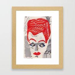 Lucille Ball #PrideMonth Collage Portrait Framed Art Print