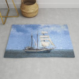 Sailing Ship Art Rug