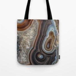 Mocha swirl Agate Tote Bag