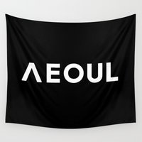 seoul Wall Tapestries featuring Seoul [Hangul] by 00yu