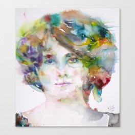 MAUD GONNE - watercolor portrait Canvas Print