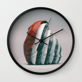 Hidden faces Wall Clock