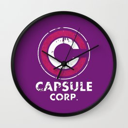 Capsule Corp Vintage pnk and white Wall Clock