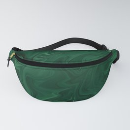 Modern Cotemporary Emerald Green Abstract Fanny Pack