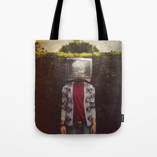 This TV haze sucks me through. I watch the world from the inside Tote Bag