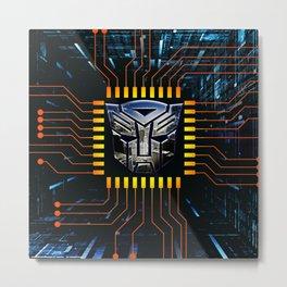 circuit autobot Metal Print
