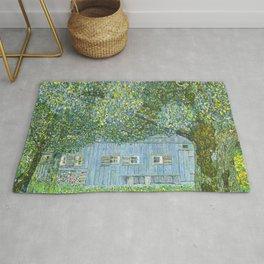 Klimt - Farmhouse in Upper Austria (new editing) Rug