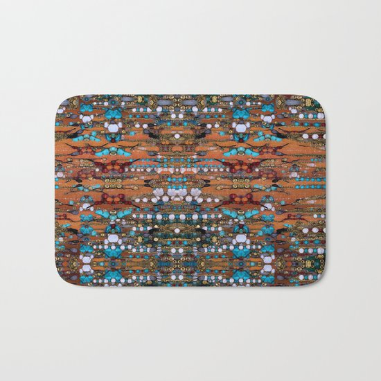 Abstract Indian Boho Bath Mat
