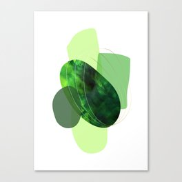 Still Life With Green Stones Canvas Print
