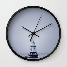 Burlington Breakwater North Lighthouse Wall Clock