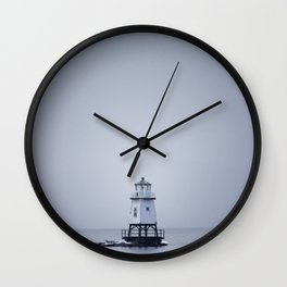 Burlington Breakwater North Lighthouse Wall Clock