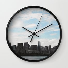 City Swept Wall Clock