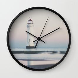 New Brighton Lighthouse at sunrise Wall Clock