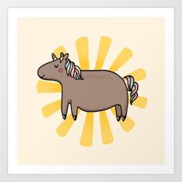 Chubby Unicorn Art Print