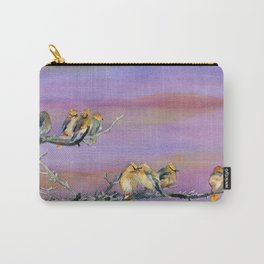 Bohemian Waxwings Birds Carry-All Pouch