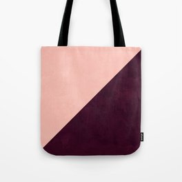 Modern blush pink burgundy watercolor color block geometric Tote Bag