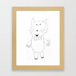 Crazy Cat Pencil Framed Art Print