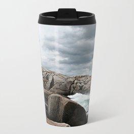 Peggy's Cove Light House -- Nova Scotia Metal Travel Mug