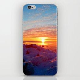 Sunset and Wind turbines iPhone Skin
