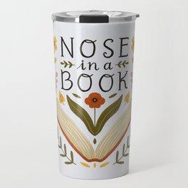 Nose in a Book Travel Mug