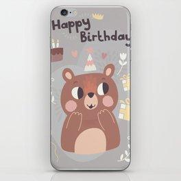 Happy Birthday Bear! iPhone Skin