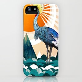 Crowned Crane iPhone Case
