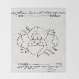 La Dispute Logo Tattoo Throw Blanket