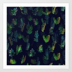 green garden at nigth power version Art Print
