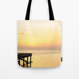 Sunset's in Belize Tote Bag