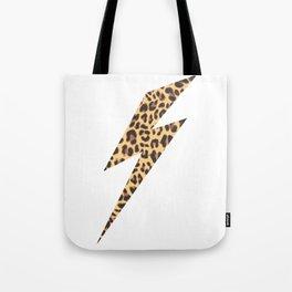 Wild Thing Leopard Lightning Bolt Tote Bag