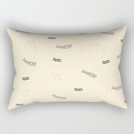 Aquarius Pattern - Beige Rectangular Pillow