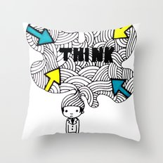 Think, dude. Throw Pillow